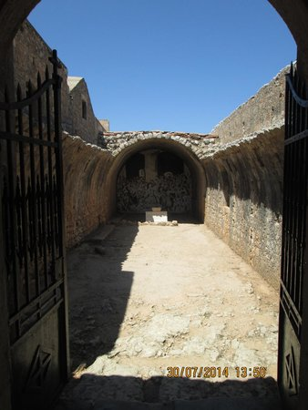 Sacred Monastery of Arkadi: The Storeroom that was blown up, killing the women and children inside
