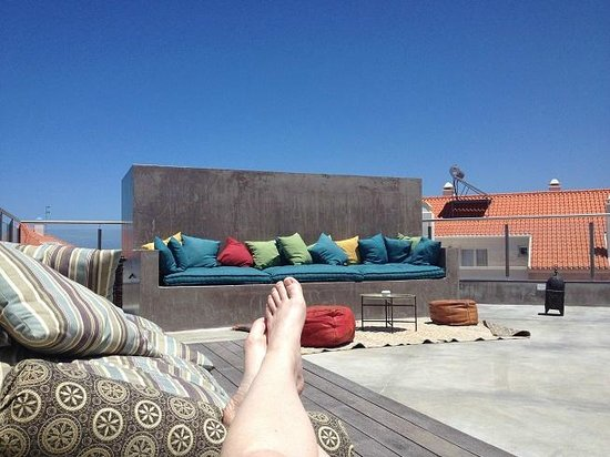 Surfers Lodge Peniche: The rooftop lounge