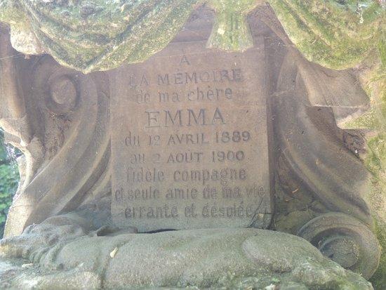 Cemetery of the Dogs (Cimetiere des Chiens): Sad inscription