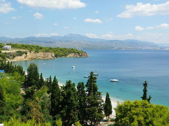 Kalamaki Beach Hotel : Vue panoramique depuis l'hôtel