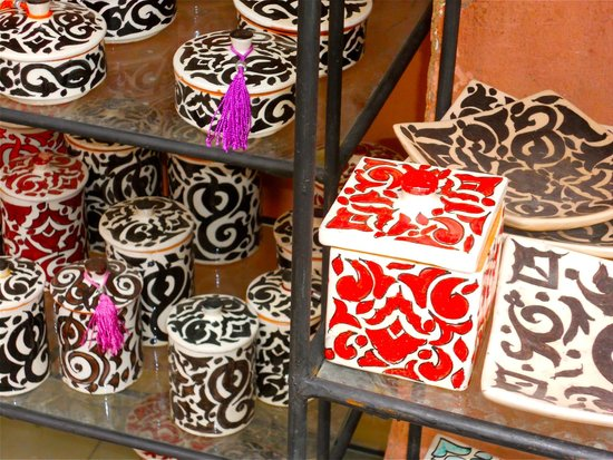 Marrakech Souk: Design des poteries