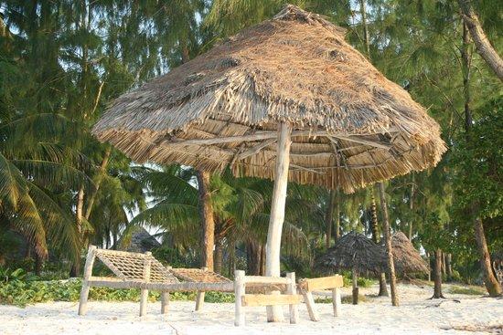 Ndame Beach Lodge Zanzibar: The beach beds