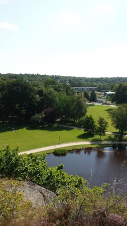 Ronneby Brunnspark: View from the top of the hill