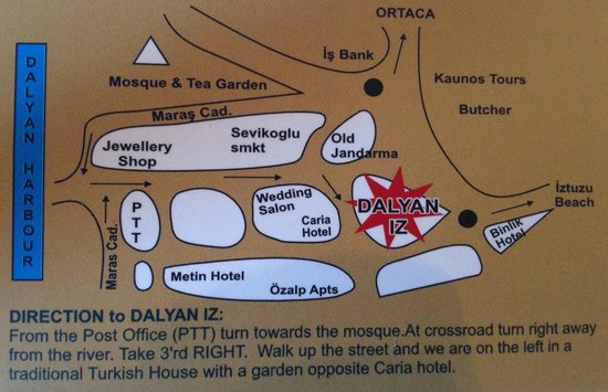 Dalyan Iz Cafe : Once you find it, you'll keep going back... Thought a map would help as it's not easy to find fi