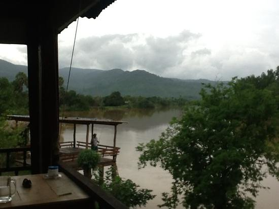 Champa Lodge: view from day bed on the boat lodge deck