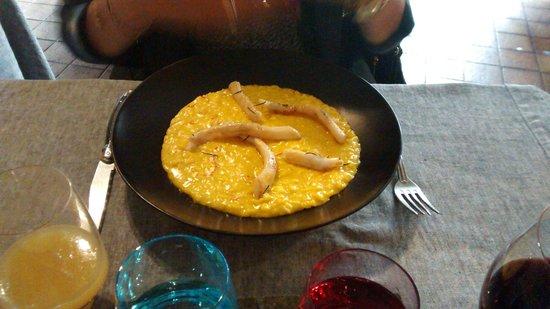 Ciasa Mia : Risotto with pine infused grilled calamari