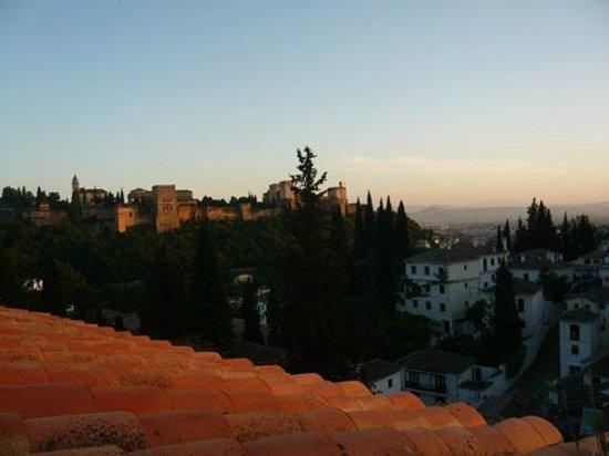 Solar Montes Claros: View to Alhambra over Albaicin, Granada