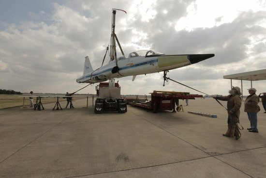 Aviation Heritage Park: T33 Talon flown by every lunar astronaut on display Oct 2014