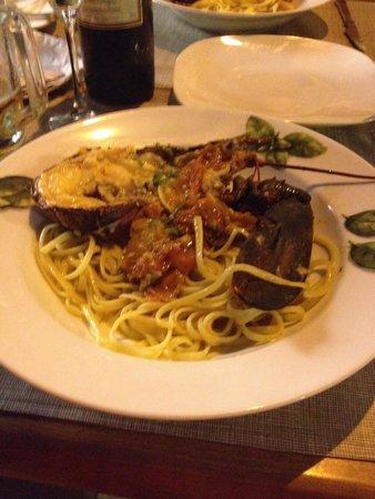 Pulcinella: Lobster linguini, yum yum.