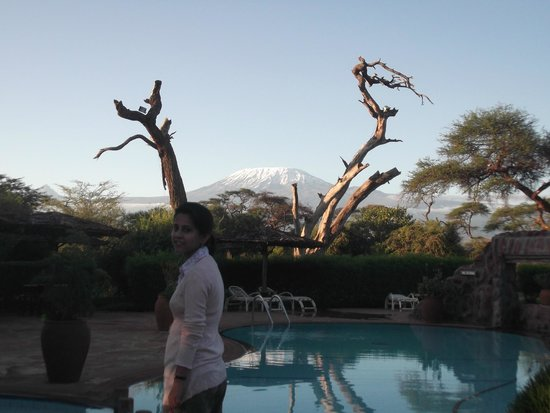 Sentrim Amboseli: View from the Pool Area