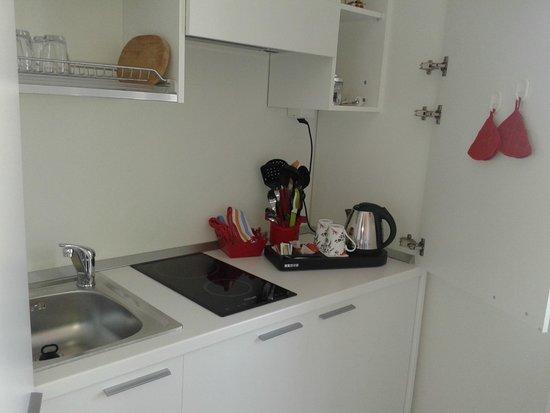 Il Punto Rooms & Breakfast: Cucina in camera Rubino