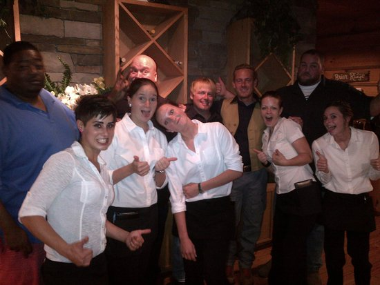 "Trailhead Steakhouse : Trailhead Staff With Weather Channel's Cast From ""Fat Guys In The Woods"" Reality TV Show Starrin"