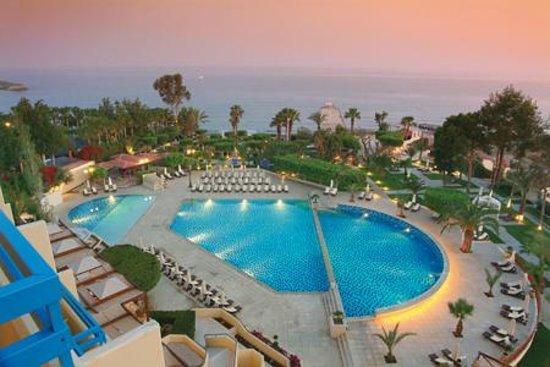 Elias Beach Hotel: Exterior Sunset