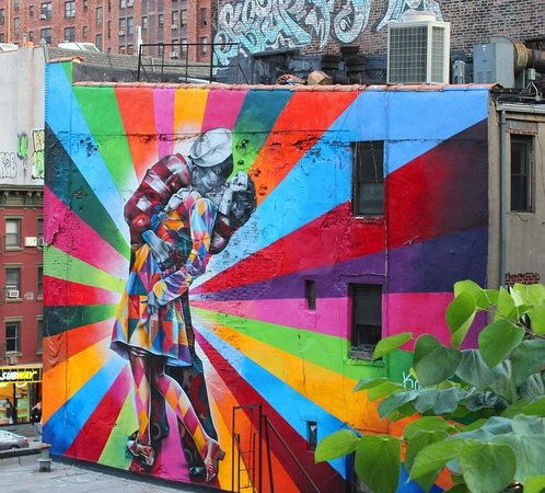 Free Tours by Foot : Graffiti by Kobra as seen from the High Line
