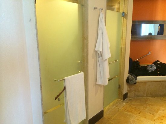 Dreams Riviera Cancun Resort & Spa : Toilet left, shower right
