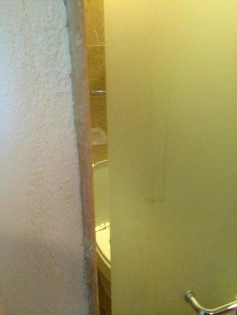 Dreams Riviera Cancun Resort & Spa : View inside the bathroom door