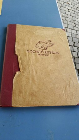 Société Lutèce: Il menu'