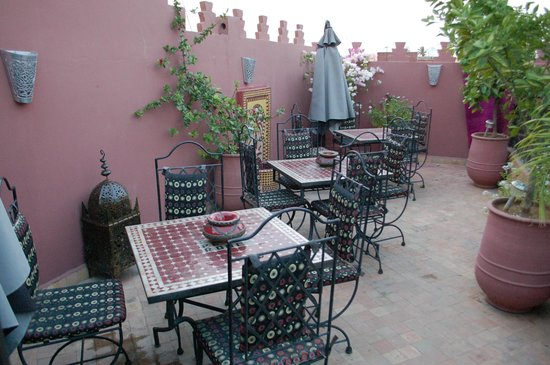 Riad La Porte Rouge: roof terrace
