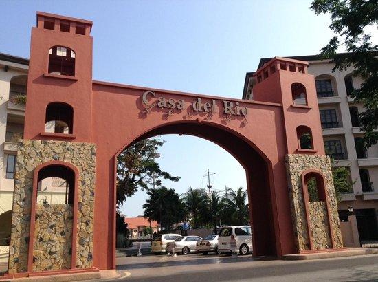 Casa del Rio Melaka : Gate of Casa del Rio