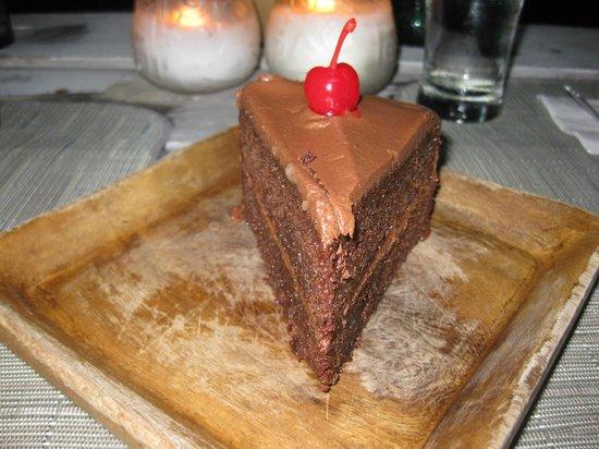 Rockhouse Hotel: Rum chocolate cake :)