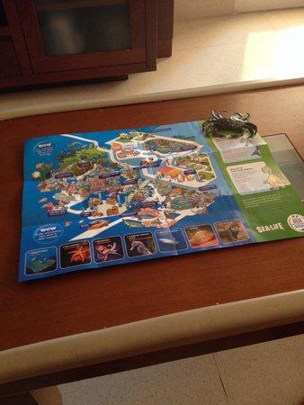 Sea Life Aquarium: Mapa y recuerdo del día