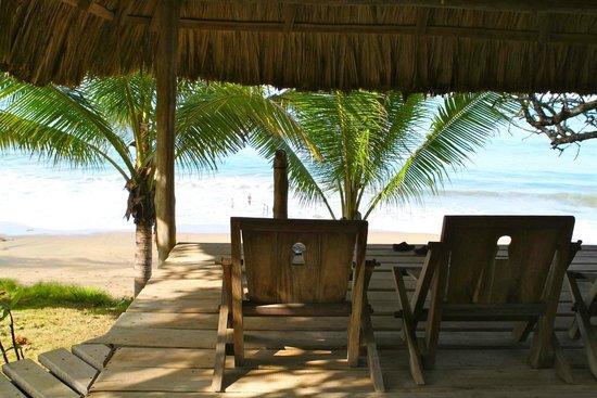 Posada Los Destiladeros: Vue sur la plage à 50 m du bungalow