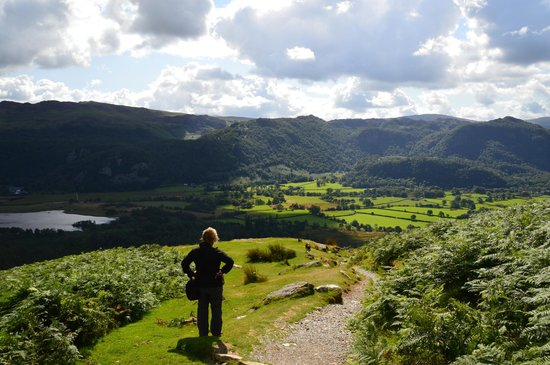 Catbells Lakeland Walk: Going down...
