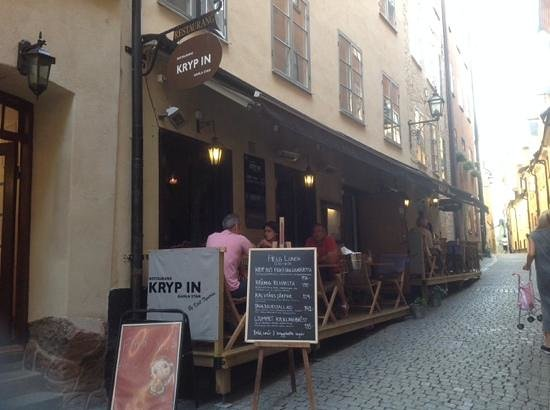 Restaurang Kryp In: The delightful Kryp In located in Stockholm's Old Town.