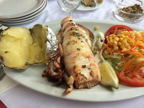 Merendero Jose Cruz: el calamar a la plancha muy bueno
