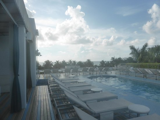 The Hotel : The pool at the roof with ocean view