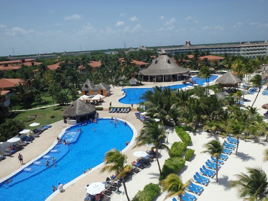 Ocean Maya Royale: View as we paraglided over the hotel!