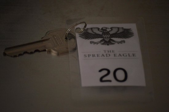 The Spread Eagle Hotel: Laminated key ring!! for a supposedly high class hotel chain would have expected better.