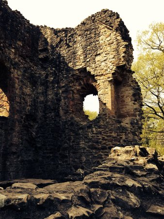 Hawarden, UK: Part of the ruined keep