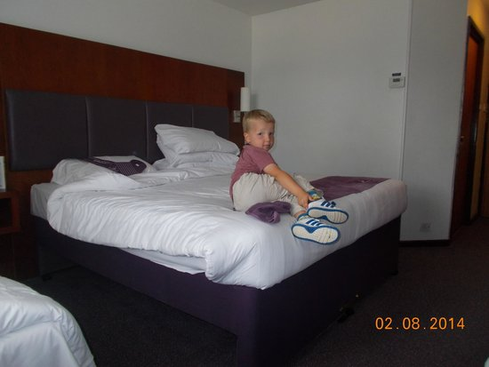 "Premier Inn Cobham Hotel: grandson tries claiming the ""big bed"""