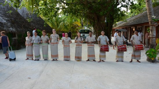 Kuredu Island Resort & Spa: powitanie każdego gościa