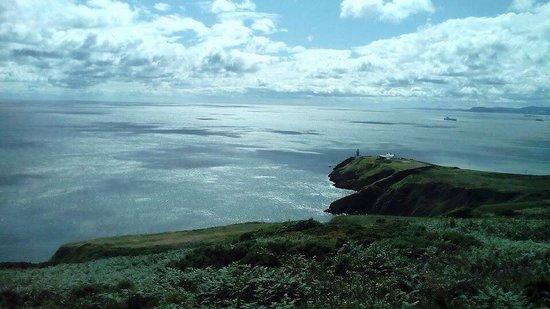 Howth Head : Vista della baia di Dublino
