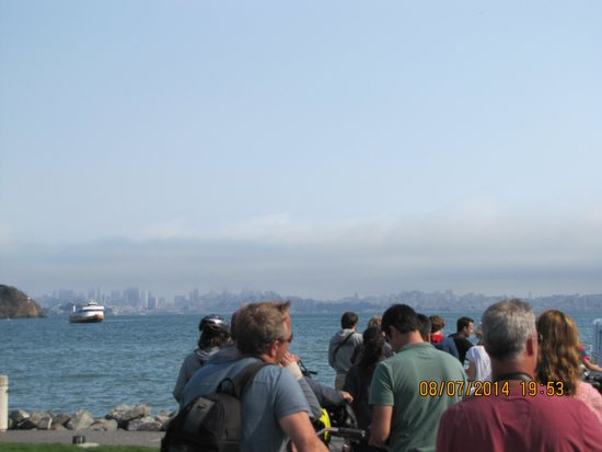 Blazing Saddles Bike Rentals and Tours : In line for the ferry in Tiburon