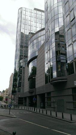Parlamentarium : Complexo de vidro.