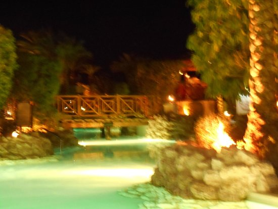 Ghazala Gardens Hotel: Pool by night