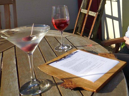 Barley Bree: Back yard table.