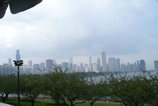 Shedd Aquarium: View from the foodcourt patio.