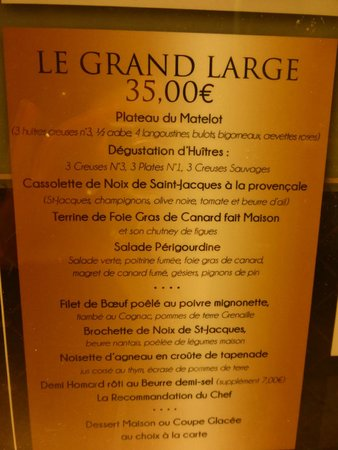 La Brasserie du Sillon: Sehr empfehlenswertes Menü