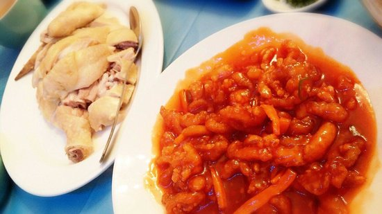 B&D's Kitchen: Sweet sour shredded chicken and whole succulent chicken with home made dip