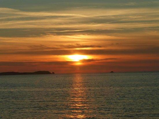 La Brasserie du Sillon: Perfekter Sonnenuntergang