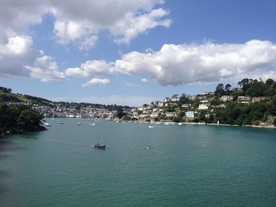 Dartmouth Castle: View of Dartmouth from top of Gun Tower