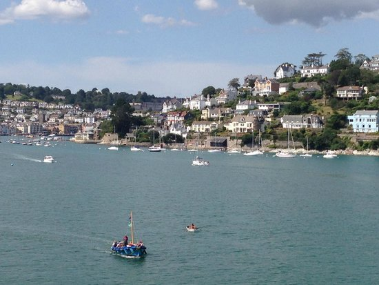 Dartmouth Castle: View of Dartmouth from Gun Tower