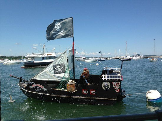 Plymouth Cruises aboard Lobster Tales: enemy pirate ship