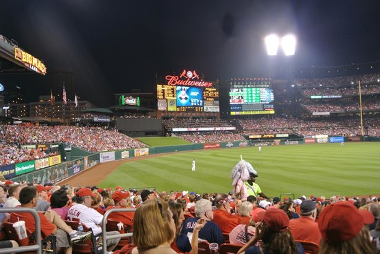 Busch Stadium: open side of stadium