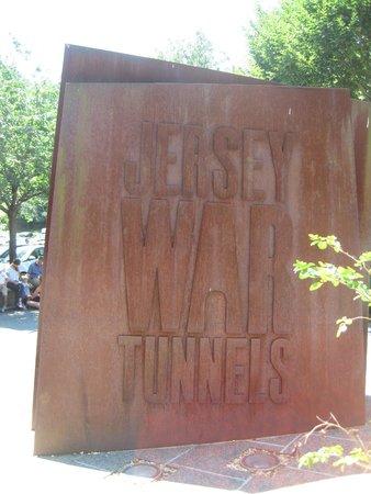 Jersey War Tunnels - German Underground Hospital: Sign at entrance