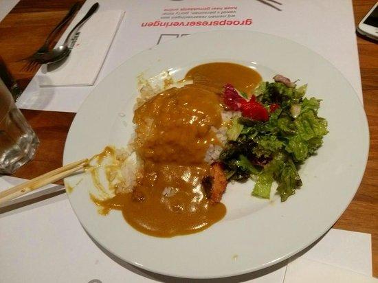 Wagamama: kip katsu curry met japanse rijst